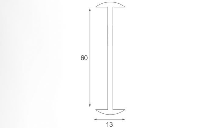 پروفیل اتصال 60 میلیمتر - t2